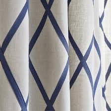 Gray and beige curtains Curtain Panel Navy Trellis Curtains Thibaut Navy Linen Curtains Diamond Curtains Custom Curtain Panels Lattice Curtains Blue Natural Jll Home Curtains Jll Home