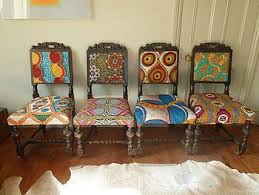 Frumpy Chairs Get a Tribal Fabric Makeover