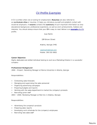 Profile For Resume Retail Student Sample Freshers Doc Management