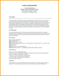Sponsorship Contract Template Extraordinary Concert Sponsorship Proposal Template Presidentnews