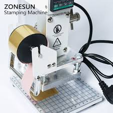 zonesun zs90 hot foil stamping machine manual bronzing machine pvc card leather and paper embossing stamping