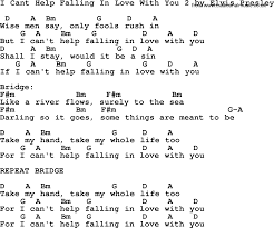 I Cant Help Falling In Love With You 2 By Elvis Presley Lyrics