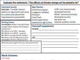 leah smith s geography shop teaching resources tes year 7 8 ks3 geography essay assessment sheet topic climate change
