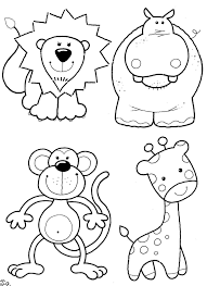 Zoo Animals Coloring Pages For Kindergarten 28 Animal Preschool 0