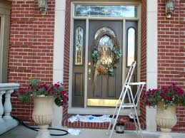 image of front door color for brick house