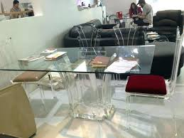 clear lucite dining chairs table transparent acrylic glass l81