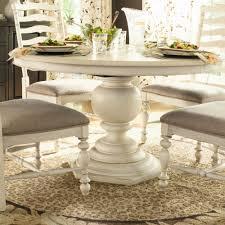 paula deen home paula s round pedestal dining table in linen