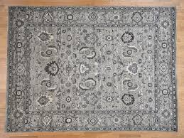 9 1 x12 3 natural colors mahal design grey peshawar hand knotted oriental rug cwr40645