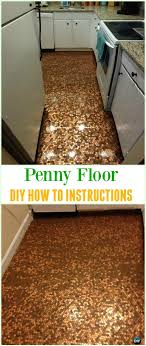 diy penny floor tutorial cool diy ways to decorate home garden with pennies