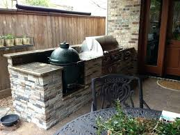 patio with built in big green egg nest contemporary landscape outdoor kitchen and gas grill plans