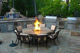 outdoor kitchens fire places fire pits