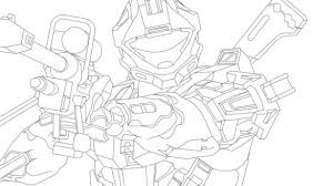 Halo Spartan Coloring Pages Property Michigan Football Free For 19