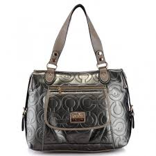 Coach In Printed Signature Large Silver Totes AZO