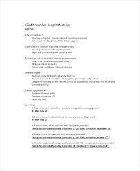 Finance Meeting Agenda Template Budget Example Financial Advisor ...