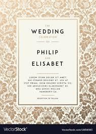 Vintage Wedding Invitation Vintage Wedding Invitation Template Royalty Free Vector