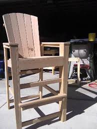 Surprising Tall Adirondack Chair Nice Bar Height Plans Chairs Kits