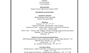 Activities Resume For College Template Resumes Builder Usa Job