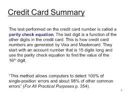 By Colin Kriwox 2 Contents Introduction Credit Card Error Checking