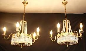 chandelier in french pair of vintage empire chandelier french glass tent waterfall ceiling lights ref french
