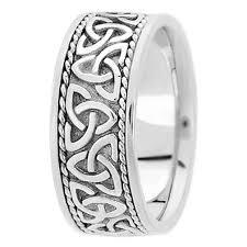 mens celtic knot wedding bands. 14k white gold celtic knot trinity roped engraved wide men\u0027s wedding band mens bands r