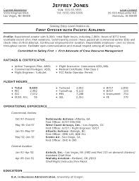 Sample Airline Pilot Resume Pilot Entry Level Resume Pilot Entry