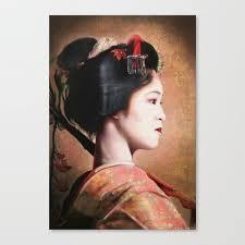 Digital Portrait Painting Beauty Of Geisha Oriental Japanese Lady Digital Portrait