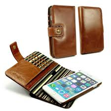 apple iphone 6 plus rfid magnetic wallet case alston craig vintage brown leather 1 1