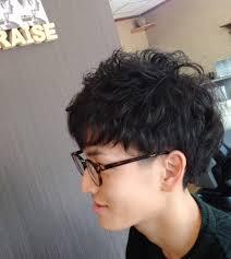 ショートヘアスタイルメンズパーマスタイル