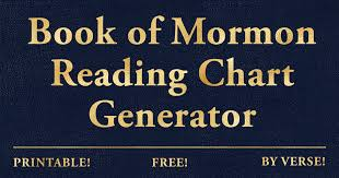 Chart Generator Free Free Printable Book Of Mormon Reading Chart Generator