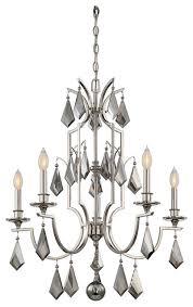 savoy house ballard 1 tier chandelier polished nickel traditional chandeliers
