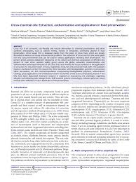 Essential Oils Pest Control Chart Pdf Citrus Essential Oils Extraction Authentication And