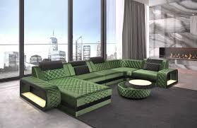 Details Zu Sofa Wohnlandschaft Couch Samtstoff Ottomane Chesterfield Berlin U In Grün Led