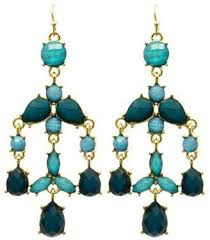 at tiques mimis mimi s gift gallery teal chandelier earrings