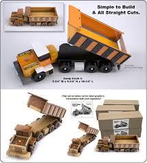 reallywood coal mine dump truck wood toy plan set