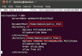 install and configure apache in ubuntu