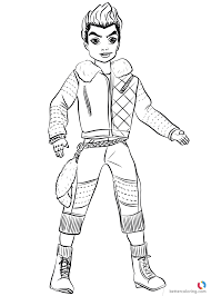 Wicked World Carlos From Descendants 2 Coloring Pages Printable For