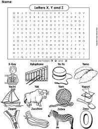 Handwriting worksheet maker make custom handwriting & phonics worksheets type student name, small sentence or paragraph and watch a beautiful dot trace or hollow letter. Phonics Worksheet Beginning Letter Sounds The Letters X Y And Z Word Search