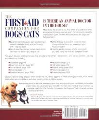Amazon Com The First Aid Companion For Dogs Cats