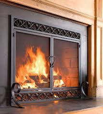 plexiglass fireplace cover scrollork fireplace doors open or closed
