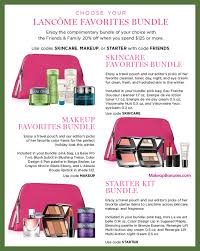 receive a free 6 pc gift with your 125 lancôme purchase