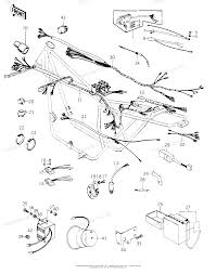 Kawasaki motorcycle 1981 oem parts diagram for chassis electrical equipment '78 c1 c1a partzilla