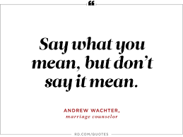 wise quotes to stop arguments reader s digest  say what you mean but don t say it mean andrea wachter marriage counselor