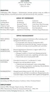Inventory Control Resume Inspiration Office Manager Resume Objective Pohlazeniduse