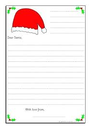 A Letter To Santa Template