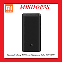 Pin sạc dự phòng 20000mAh Xiaomi gen 3 Pro 50W (2019)