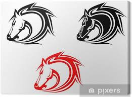 Obraz Koně Tetování Na Plátně