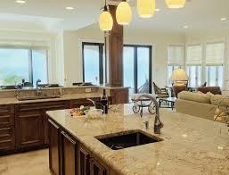 open floor plan kitchen living room dining house plans