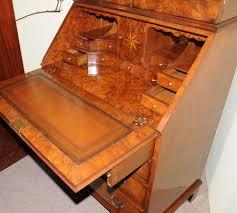 walnut victorian secretary bookcase bureau cabinet desk