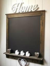 Large Shabby Chic Rustic Wall Hung Blackboard Chalkboard Notice Board Key  Hooks