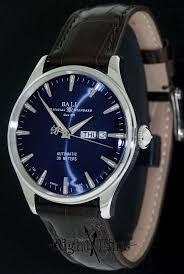 ball eternity blue dial nm2080d lj be pre owned mens watches